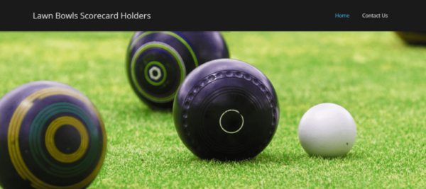 Lawn Bowls Score Card Holders